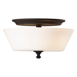 Murray Feiss - Murray Feiss Peyton Transitional Flush Mount Ceiling Light X-KB453MF - The tapered shape of the white opal etched glass shade adds a unique look and feel to this Murray Feiss flush mount ceiling light. From the Peyton Collection, this majestic light features traditional detailing, such as the turned finial, emphasized by a classic Black finish that adds just the right amount of contrast and appeal.