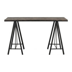 Safavieh - Troy Console - Form follows function has been the mantra of the world'_s greatest architects. Inspired by the classic sawhorse table, the Troy Console is a testament to this design philosophy. Crafted with fir wood, its clean style and classic lines make it a modern masterpiece.