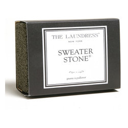 Frontgate - Sweater Maintenance Stone - Sweater stone removes pilling for a brand-new look, without the professional dry cleaning price. Suitable for all kinds of woolens, from scarves to upholstery. Non-toxic, biodegradable, and allergen free. Eliminate pilling on your favorite knit pieces and woven fabrics with a Sweater Maintenance Stone. The perfect tool for renewing the finish of sweaters, blankets, upholstery, and more; using this stone is more convenient and less expensive than dry cleaning.. . . Made in the USA.