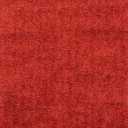 """Loloi Rugs - Loloi Rugs Hera Shag Collection - Red, 7'-6"""" x 9'-6"""" - The Hera Shag Collection offers a fun, innovative take on the classic shag rug. Its interesting strand-like texture and striking colors are the perfect update to the shag category. Customers can choose from a selection of mixed tonal shades from warm to cool."""