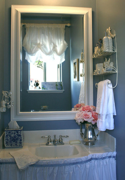 Traditional Powder Room by My Romantic Home