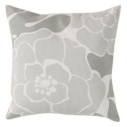 """Surya - Surya FB-007 Flawlessly Floral Pillow, 20"""" x 20"""", Down Feather Filler - Exquisitely stunning and vibrant in its design, this dazzling pillow will effortlessly update your space in striking, sophisticated charm. With a flawless floral print in upbeat coloring, this piece will decorate your room in trend, easily fashioning an update for any home decor. Genuinely faultless in aspects of construction and style, this piece embodies impeccable artistry while maintaining principles of affordability and durable design, making it the ideal accent for your decor."""