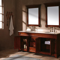 "72"" Sicily Double Sink Vanity - Harvest -"