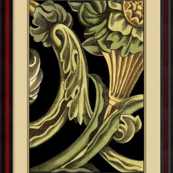 Amanti Art - Ethan Harper 'Classical Frieze IV' Framed Art Print 24 x 32-inch - Add a classically inspired design to your walls with this 'Classical Frieze IV.' Created by Ethan Harper, the smooth lines, curled tendrils and golden leaves of this design will add a marvelous touch to any decor.