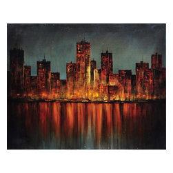 """Crestview - Crestview CVTOP1624 Firey Evening - Firey Evening Firey Evening 40*50"""" Canvas 40*50"""""""