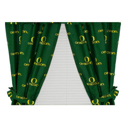 College Covers - NCAA Oregon Ducks Curtains Long Collegiate Drapes - Features: