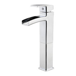 Price Pfister - Pfister GT40-DF0C Kenzo One Handle Vessel Lavatory Faucet - Price Pfister GT40-DF0C is a Kenzo Series Single control vessel faucet, drain assembly Not included.