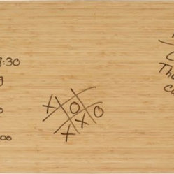 Bamboo Dry Erase - This is so much prettier than a plain old white board.