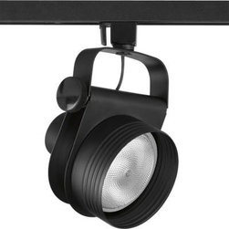 Progress Lighting - Progress Lighting Alpha Trak Collection Black 1-light Track Head P6307-31 - Shop for Lighting & Fans at The Home Depot. The AlphaTrak modular system provides a practical approach to providing illumination in targeted areas. Select from track fixtures that feature 360-degree rotation and 90-degree tilt for precising aiming of PAR, BR or halogen light sources. Select fixtures and accessories for a complete system. Alpha Trak is not compatible with modular track systems.