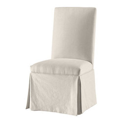 Ballard Designs - Parsons Chair Slipcover in Stocked Fabrics - Frame. Frame with Casters. Tailored exclusively to fit our Standard Parsons Chair or our Castered Parsons Chair (sold separately). &#42Stocked - Selected from our most popular fabrics and our very best value. These pre-made Slipcovers ship separately from your frame and may arrive first, so you'll have to slip them on yourself. It's a little extra work, but the savings are worth it. *Monogramming available for an additional charge.*Allow 3 to 5 days for monogramming plus shipping time.*Please note that personalized items are non-returnable Click to view:  .  with Casters .