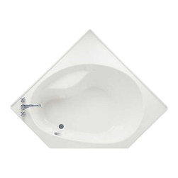 American Standard - American Standard 2664.202.020 Scala Corner Bath Tub, White - American Standard 2664.202.020 Scala Corner Bath Tub, White. This corner tub features an acrylic construction with a fiberglass reinforcement, an integral water retention flange on each of the 5' sides, an integral seat, and a left-sided supply/outlet mounting.