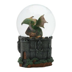 Summit - Dragon Treasure Water Glitter Snow Globe Display - This gorgeous Dragon Treasure Water Glitter Snow Globe Display has the finest details and highest quality you will find anywhere! Dragon Treasure Water Glitter Snow Globe Display is truly remarkable.