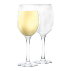 Home Essentials - Glass Shop White Wine Set Of 4 Goblets - Serve some aged white wine the right way, with our fine Glass Shop White Wine 16 oz. Set Of 4 Goblets. Its perfectly cut round cup will give the perfect flavor to your tongue as you take a sip of the latest white wine. Cleverly designed, these stemmed goblets, will give the complete finish to your table setting and your formal meatings as well.
