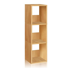 Way Basics - Trio Narrow Shelf, Natural - The Trio Narrow Shelf will complement and organize any space in your home with its simplistic, modern design! It's unique tool free assembly & endless possibilities make it an essential piece for the home.