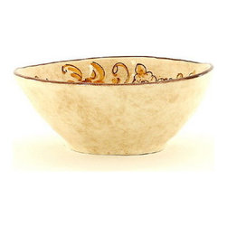 Artistica - Hand Made in Italy - Vinaria: Cereal Bowl - The Vinaria is an exclusive design for Artistica by the Umbrian renown artist Rale of Opera Nova.