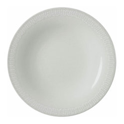 Iittala - Sarjaton Salad Plate Letti Pearl Gray - Pearl gray is the new black AND the new white — especially at the table. So grace your space with this delicately bordered plate, designed for salad and other small bites.