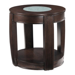 Magnussen - Magnussen Ino Wood and Glass Oval End Table - Magnussen - End Tables - T173807 - About This Product: