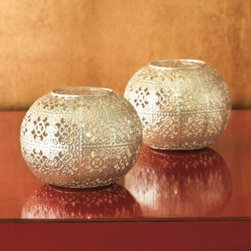 Pierced Candleholders - Use these candle holders for beautiful fractured mood lighting at the quick light of a candle.