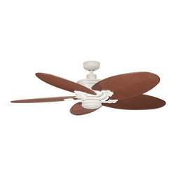 """DECORATIVE FANS - DECORATIVE FANS Crystal Bay 52"""" Indoor / Outdoor Transitional Ceiling Fan X-CDA2 - A blend of traditional lines and styling with a good dose of island influence, this Kichler Lighting outdoor ceiling fan from the Crystal Bay Collection is a perfect choice for any outdoor space. The entire fan features an Adobe Cream powder coating that is perfect for outdoor use."""