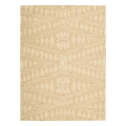 "Nourison - Nourison Moda MOD02 (Shell) 9'6"" x 13'6"" Rug - Hand tufted area rugs with ultra modern designs in rich color geometrics and contemporary abstracts. Extra dense premium quality wool pile with light catching luminescent viscose yarns for texture and a bold focal point in any setting."
