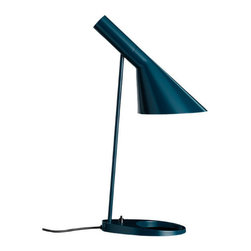 AJ Table Lamp - Petroleum - Designer: Arne Jacobsen.