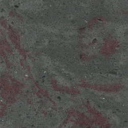 Tritium - Tritium is another color featured in the House of Rock project. The Stonium Series is a line of earthy hues inspired by distinctive coloring of organic minerals and the movement of natural stone. Tritium is a gray hue with cranberry veining.