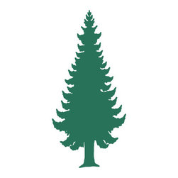 My Wonderful Walls - Pine Tree Stencil 1 for Painting - - Pine tree wall stencil