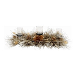 Winward Designs - Gatsby Sparkle Centerpiece - A Great Gatsby inspired glitz & glamour candle votive for the fireplace mantel or as a dining/table centerpiece.