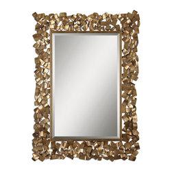 www.essentialsinside.com: capulin antique gold mirror - Capulin Antique Gold Mirror by Uttermost, available at www.essentialsinside.com