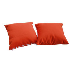 Modway - Allegra Pillow in Orange - Express your individual style with the perfect completion to any of our outdoor furniture sets. Artful hints pepper the scene as you choose your colors from our beautiful selection of easy to clean pillows. Fitted with removable zipper covers and suitable for all climates, reflect a bit of everything into one simple addition to your decor.