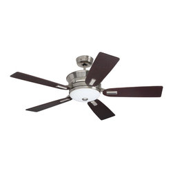 Emerson Ceiling Fans - Emerson Ceiling Fans CF990BS Emerson  CF990BS  Brushed Steel with Dark Mahogany - Emerson CF990 Highgrove Ceiling Fan Emersons new Highgrove ceiling fan features a uniquely sculpted housing and flange medallion detail in addition to