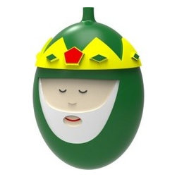 "Alessi - Alessi ""Melchiorre"" Christmas Bauble - With this blown glass ornament, the saying ""he who wears the crown must bear the weight,"" refers to becoming the new King of your Christmas tree. It's a hefty job, but this brightly colored bauble is ready and willing to do it."