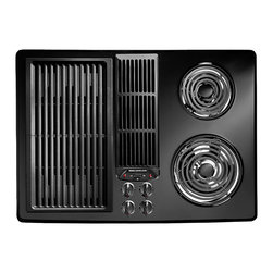 """Jenn-Air 30"""" Electric Downdraft Cooktop, Black On Black 