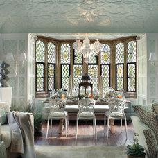 Mediterranean Dining Room by Kenneth/Davis, Inc.
