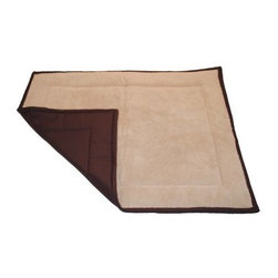 "Brinkmann Quilted Pet Throw - For all pets on the go! This 40"""" x 50"""" Pet Throw features a high quality fabric bottom with a warm berber top to keep you pets cozy. Inside the throw has batting for added comfort and is also quilted to hold it's shape. Great for use on furniture, in automobile or as an everyday pet bed. This throw is easy to care for, machine washable and dryer safe."