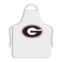 Sports Coverage - Georgia University Bulldogs Tailgate Apron - Collegiate Georgia University Bulldogs White screen printed logo apron. Apron is 100% cotton twill with screenprinted logo. One Size fits all.