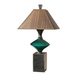 Alzavola Dark Teal Lamp