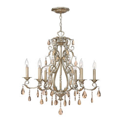 Hinkley Lighting - Hinkley Lighting 4776SL Carlton Silver Leaf 6 Light Chandelier - Hinkley Lighting 4776SL Carlton Silver Leaf 6 Light Chandelier