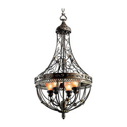 "Kichler - Kichler 42230TRZ Marchesa 2-Tier Cage Chandelier w/4 Lights - 72"" Chain - Kichler 42230 Marchesa Chandelier"
