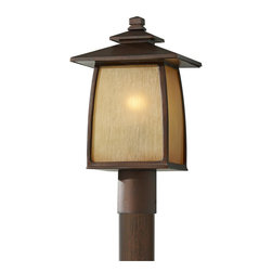 Murray Feiss - Murray Feiss OL8508SBR Wright House Outdoor Post Lamp - Craftsman-Mission Outdoor Post Lamp in Sorrel Brown from the Wright House Collection by Murray Feiss.