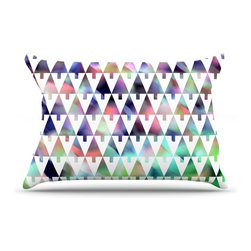 "Kess InHouse - Gabriela Fuente ""X-Mas Party"" Pastel Geometric Pillow Case, King (36"" x 20"") - This pillowcase, is just as bunny soft as the Kess InHouse duvet. It's made of microfiber velvety fleece. This machine washable fleece pillow case is the perfect accent to any duvet. Be your Bed's Curator."