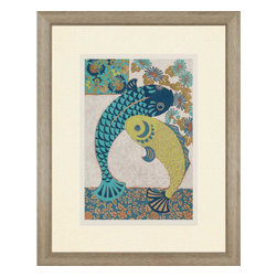 Paragon - Koi Ornament I - Framed Art - Each product is custom made upon order so there might be small variations from the picture displayed. No two pieces are exactly alike.
