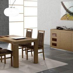 Extendable Wooden Modern Dining Room