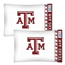 Store51 LLC - NCAA Texas A-M Aggies Football Set of Two Pillowcases - FEATURES: