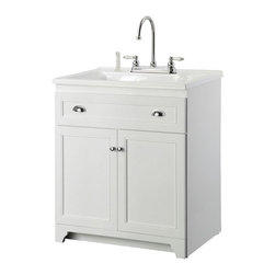 Foremost - Foremost Utility Sinks Keats 30 in. Laundry Vanity in White ...