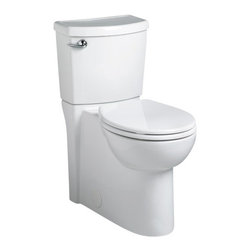 American Standard - Cadet 3 Flowise Concealed Trapway Right Height Round Two-Piece Toilet in White - American Standard 2988.101.020 Cadet 3 Flowise Concealed Trapway Right Height Round Two-Piece Toilet in White.
