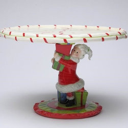 Apple Tree - 11.25 Inch Holiday Themed Mrs. Claus Holding Presents Cake Stand - This gorgeous 11.25 Inch Holiday Themed Mrs. Claus Holding Presents Cake Stand has the finest details and highest quality you will find anywhere! 11.25 Inch Holiday Themed Mrs. Claus Holding Presents Cake Stand is truly remarkable.