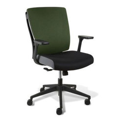 Jesper Office Furniture - Leona Adjustable Office Chair - Green - Features: