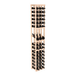3 Column Display Row Cellar Kit with in Pine Satin Finish - Make your best vintage the focal point of your wine cellar. High-reveal display rows create a more intimate setting for avid collectors' wine cellars. Our wine cellar kits are constructed to industry-leading standards. You'll be satisfied. We guarantee it.