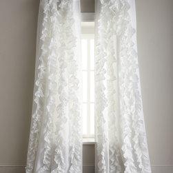 """Horchow - Each Julianna Ruffled Curtain 42""""W x 96""""L - Each Julianna Ruffled Curtain 42""""W x 96""""L"""